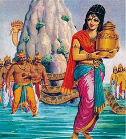 Grahan in 2014 recalls the legend of Samudra Manthan.