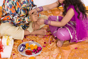 Some rituals are performed by brothers and sisters for celebrating Raksha Bandhan